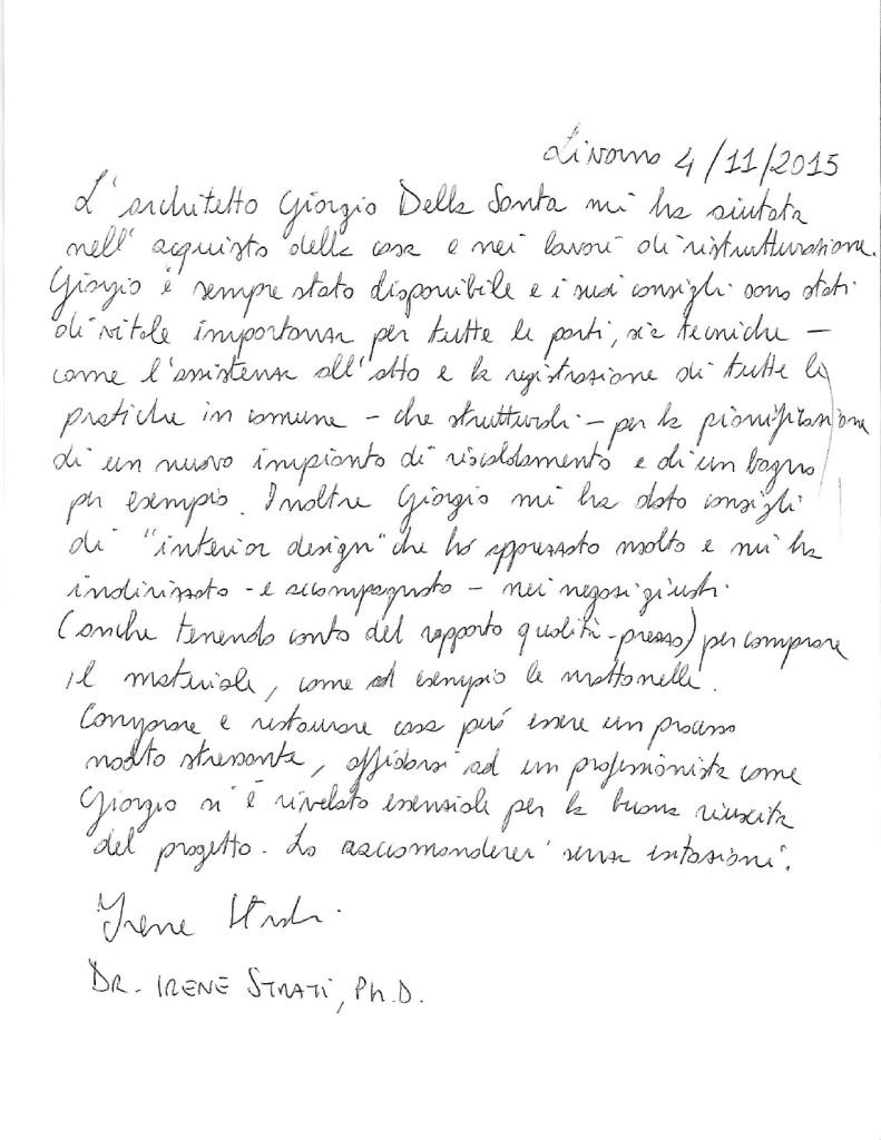 Giorgio Della Santa - Irene Strati