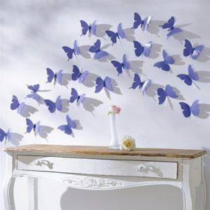 Farfalle-3d-adesivi-in-parete-in-stile-3d-decorazione-blu-con-punti-di-colla-per-il